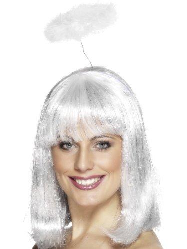 Smiffys Damen Engel Heiligenschein, One Size, Weiß, 21026 (Engel Kostüm Ideen)