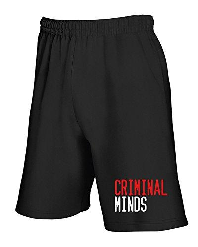 Cotton Island - Pantalone Tuta Corto OLDENG00455 criminal minds Nero