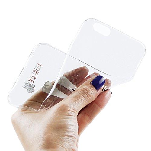 Proteggi il tuo iPhone, Enkay Cappello-Prince 2 in 1 carattere creativo del modello trasparente TPU Custodia protettiva + 0,26 millimetri 9H + Surface di durezza 2.5D a prova di esplosione di vetro te S-IP6S-3001F