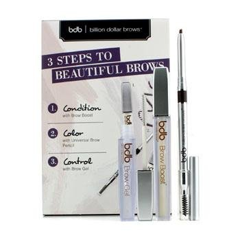 BILLION DOLLAR BROWS - Kit - 3 STEPS TO BEAUTIFUL BROWS