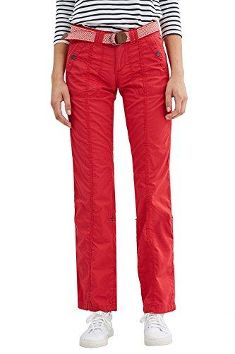 edc by ESPRIT 027cc1b019, Pantaloni Donna Rosso (Red)