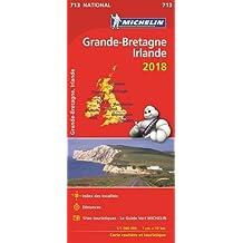Carte Grande-Bretagne, Irlande Michelin 2018