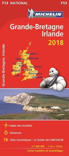 Carte Grande-Bretagne, Irlande Michelin 2018 par Michelin