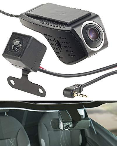 NavGear Frontkamera: Unauffällige Full-HD-Dashcam, VGA-Rückfahrkamera, WLAN, G-Sensor, App (Dashcam Spiegel)