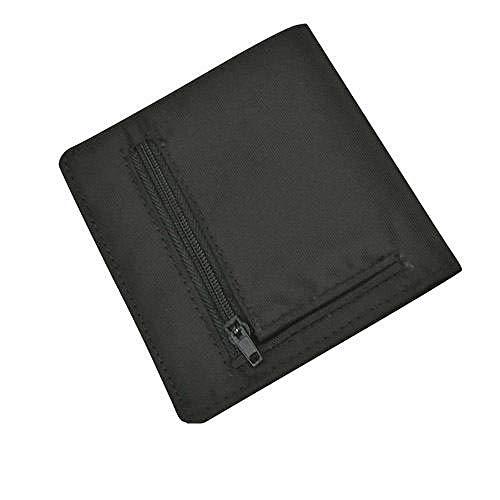 CCZ Brieftasche Minimalist Slim Nylon Wallet Für Männer Frauen Slimline Ultra Thin Mini Kleine Männlich Weiblich Reißverschluss Geldbörse Compact Money Bag @ with_Coin_Pouch - Reißverschluss Compact Brieftasche