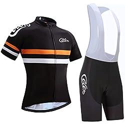 celero Hombre–Rueda Ciclismo para equipación de manga corta y pantalones, color naranja, tamaño 2XL