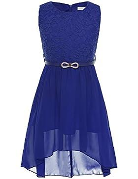 CHICTRY Ärmellos Prinzessin Kleid Mädchen Lace Chiffon Partykleid Festkleid Blumenmädchenkleid hochzeit festlich...