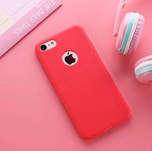 ORAS iPhone 5s Luxury Style Ultra Thin Soft TPU Back Case cover For iPhone 5 / SE -( Pink Colour, Coral Red )