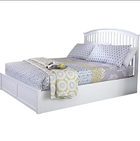 Solid Wood Ottoman Bed - with Under Bed Storage, Sprung