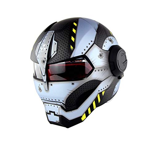HXYT Motorrad Integralhelm D.O.T Certified Road Race Cross Country Spiel Casco Moto Clam Open Männer und Frauen Maske (M, L, XL),M (Clam öffnen)