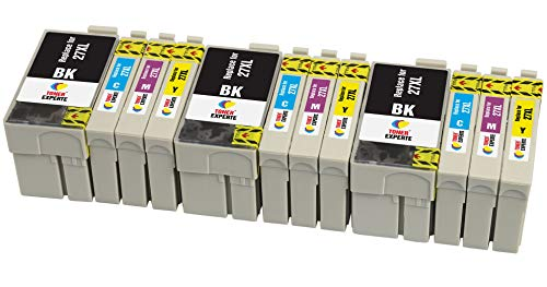 27XL 27 XL TONER EXPERTE® 12 Cartuchos Tinta compatibles