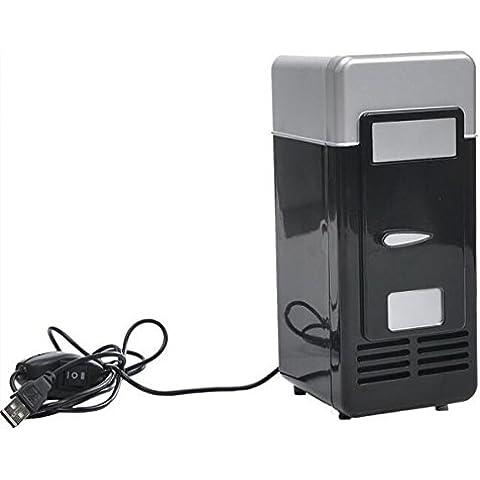 kokome Mini USB Frigorífico portátil USB Powered Mini nevera refrigerador y calentador puede refrigerador para bebidas