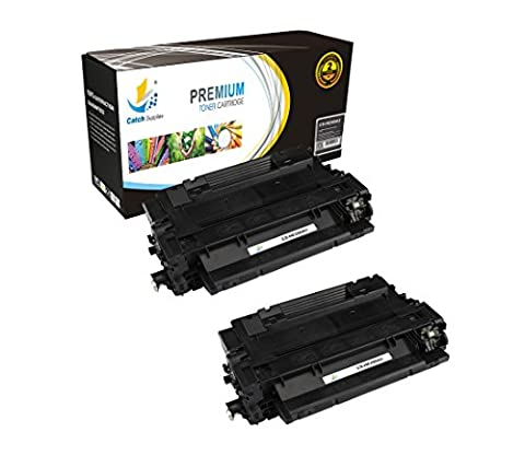 Catch Supplies CE255A P3015 2 Pack Black Premium Replacement Toner Cartridge 55A Compatible with HP LaserJet Enterprise P3015d P3015dn P3015x P3011 P3016, MFP M525 M521dn Printers  6,000