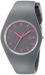 ICE-Watch - Montre Mixte - Quartz Analogique - ICE - Gray - pink - Unisex - Cadran Gris - Bracelet Silicone Gris - ICE.GY.U.S.12