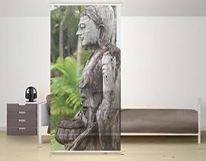 WTD Design Panneau japonais Motif Bouddha d'Indonésie