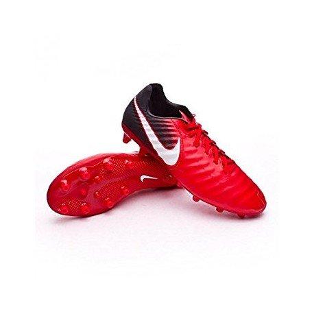 Nike Tiempo Legacy III ag-pro Ground Stollen Fußball Stiefel Erwachsener 42.5-Fußballschuh (Hartböden, Erwachsener, männlich, Sohle mit Dübel, schwarz, rot, weiß, Einfarbig) (Schwarz Tiempo Stollen)