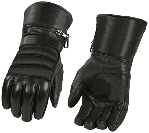 Shaf International Men's Gauntlet Gloves with Long Cuff Rain Cover (Black, Large)