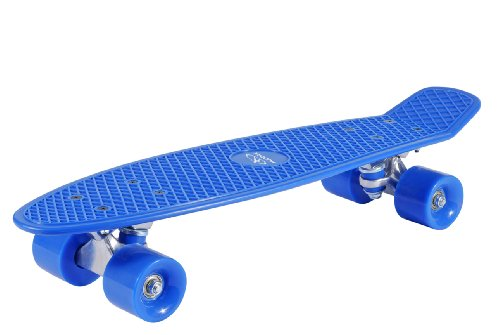 HUDORA Unisex - Kinder 12137 Retro Skateboard, himmelblau