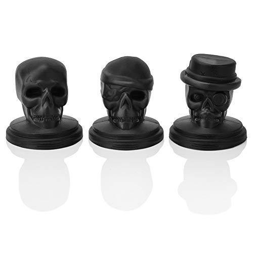 JUZEN Silikon Eiswürfel Palettenform Kreative Halloween Silikon Gedämpfte Eiswürfel Kombinationshalterung Cranium Eisform, Schwarz, 5er Pack