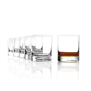 Stölzle Lausitz New York Bar Whiskyglas Pur 320ml, 6er Set Whisky Gläser, spülmaschinenfest, bleifreies Kristallglas, hochwertige Qualität