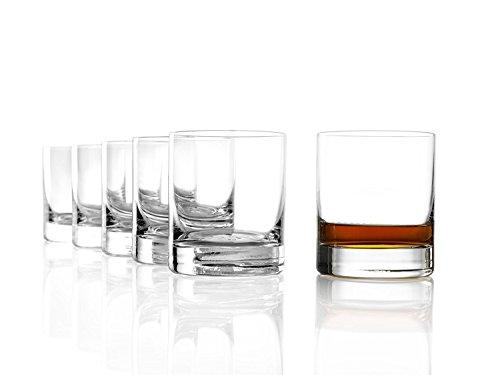 Stölzle Lausitz New York Bar Whiskyglas Pur 320ml, 6er Set Whisky Gläser, spülmaschinenfest, bleifreies Kristallglas, hochwertige Qualität (New Tumbler York City)