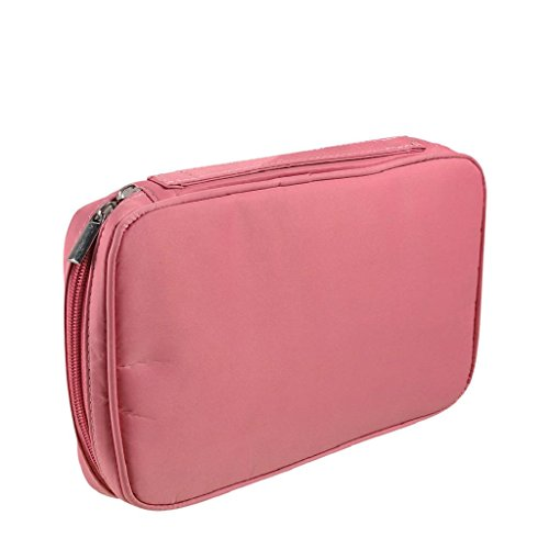 Kangrunmy Trucco Pocket Brush Cosmetic Bag Strumento Pennello Rosa