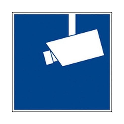 Aufkleber Videoüberwachung gemäß DIN 33450 Folie selbstklebend 15 x 15 cm (Kamera, Überwachung, Hinweis) praxisbewährt, wetterfest