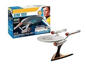 Revell GmbH 00454 Star Trek USS Enterprise NCC 1701 Technik - Kit de Modelo de plástico con electrónica y Sonido, Color Blanco, 1:600