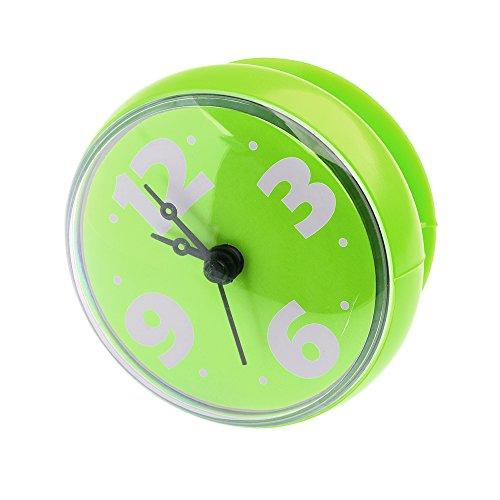 Orologio da Parete, Hipsteen Impermeabile Bagno Doccia Orologio da Parete con Ventosa - Verde