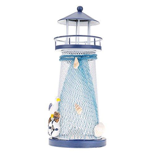? Neue Farbe Nautical mediterranen Leuchtturm LED Laterne Licht wechselndem zufällige M -