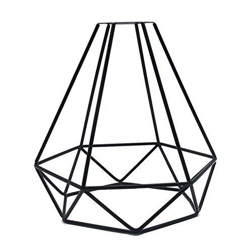 Rost-akzenten (Vintage Metall-Käfig Büld Lampe Wächter, Geometrisch Anhänger Umweltfreundlich Industriell Minimalistische Draht Akzent Rost Veredelung, Fit für Fast Alle Mittelgroß Schraubsockel Steckdosen)