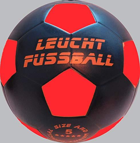 Premium LED GmbH Balon de Futbol Night Kick Master - Negro, Que se Ilumina