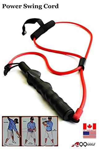 A99 Golf Power Flex Trainer swing training Resistance band for right handed golfer (Medium Resistance)