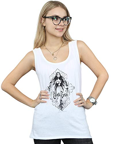 Absolute Cult Corpse Bride Damen Sketched Bride Muskelshirt Weiß Small