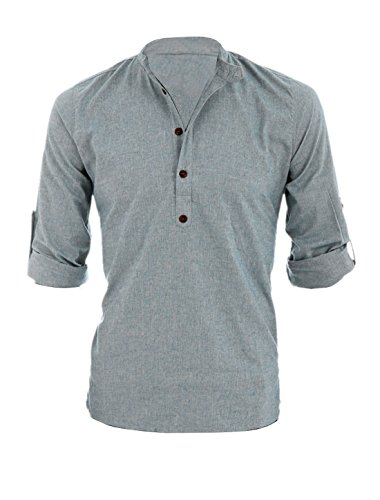 allegra-k-men-button-upper-slipover-leisure-henley-shirt-light-cool-gray-l