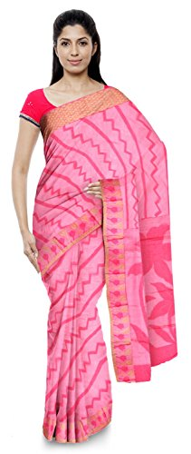 Neelam Sarees Women's Pure Banarasi Silk Saree (Pink)