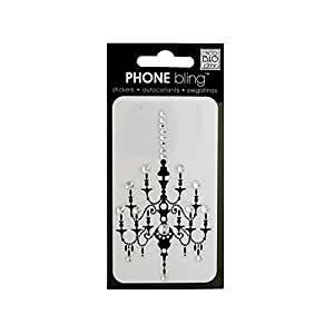 me & my BIG ideas Phone Bling Removable Cell Phone Embellishment, Chandelier, Black