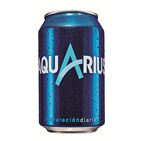 Aquarius Bebida refrescante aromatizada 330 ml pack de 12