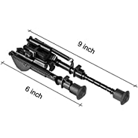 cvlife 6-9 Inches Rifle Bipod Adjustable Spring Return w/Quick Release Adapter