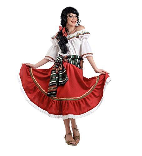 Kostüm Damen Sport - Limit Sport Damen mexikanischen Kostüm, Größe M (ma653)