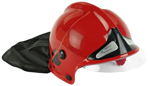 klein-8918-imitation-firemans-helmet-with-fixed-visor-and-neck-protector-red