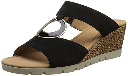 Gabor - Comfort, Pantofole Donna Nero (schwarz Grata)