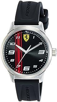 Scuderia Ferrari Orologio da Uomo/Ragazzo Analogico al Quarzo con Cinturino in Silicone Nero 0810015