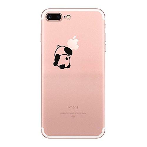 IPHONE 7 Hülle Traumfänger Ballon Karikatur Panda TPU Silikon Schutzhülle Handyhülle Case - Klar Transparent Durchsichtig Clear Case für iPhone 7 (BMW19-1) panda3