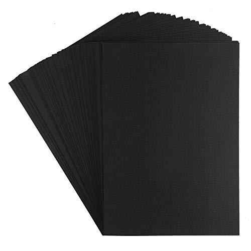 Premium Tonkarton | Fotokarton | Din A4 (schwarz | 300 g/qm | 100 Stück)