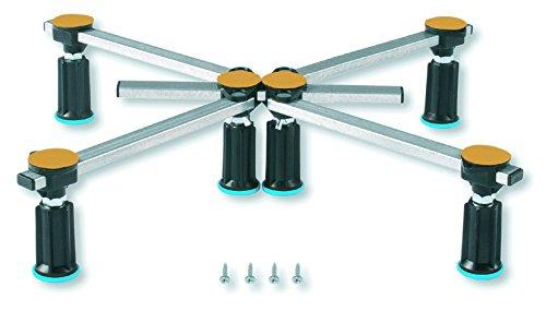 duschwanne 120 Aqualuxbad Duschwannenfuß Wannenfuß für Stahl/Acryl Duschwannen 75x75 bis 120x120cm Höhenverstellbar von 87 bis 115mm