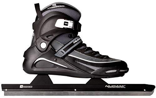 SCHREUDERS SPORT Nijdam Pro-Line Polyamid Softboot Speed Skate, Unisex, 3429-ZWA-39, schwarz/anthrazit, 39 Inch (99 cm)