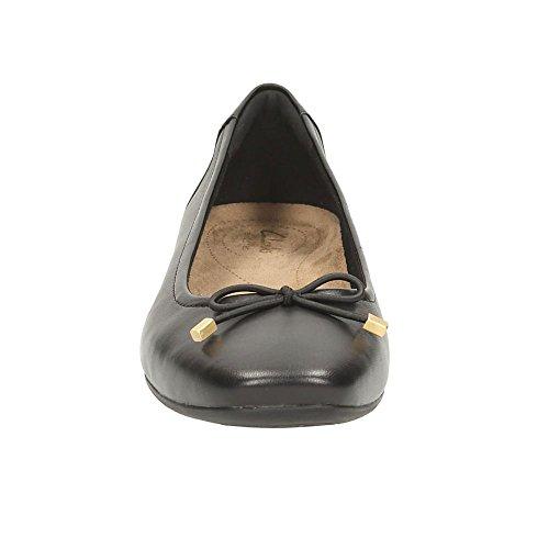 Clarks Candra Light, Ballerines Femme Black Leather