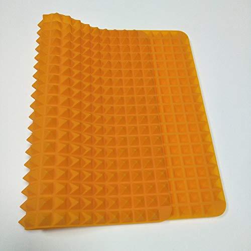 8Eninine Tragbare Silikon BBQ Mat Mikrowelle Backen Pad Blatt Pyramide-Design Orange - Mikrowelle Orange