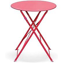 Amazon.fr : table jardin ronde pliante - Rouge